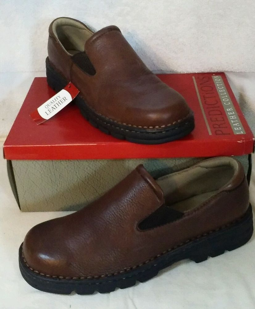 Predictions Leather Collection Brown Boulder Gore Slipon Loafers womens Sz 11 #Predictions #LoafersMoccasins #Casual