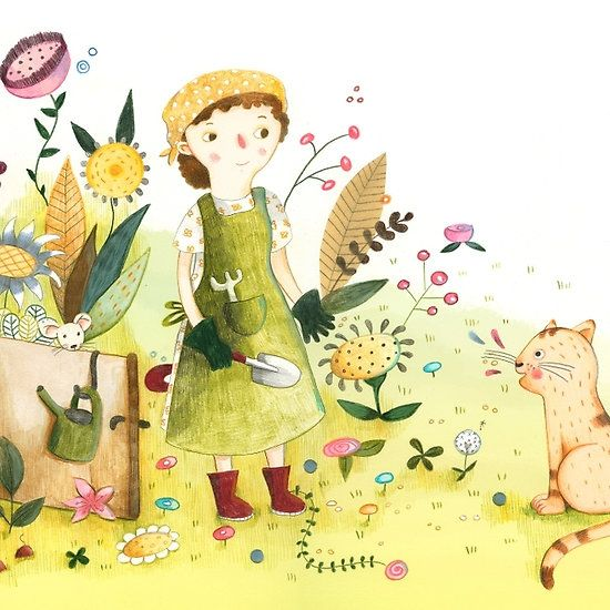 Meeting In The Garden Illustrated By Judith Loske Illustration Art Art Garden Illustration
