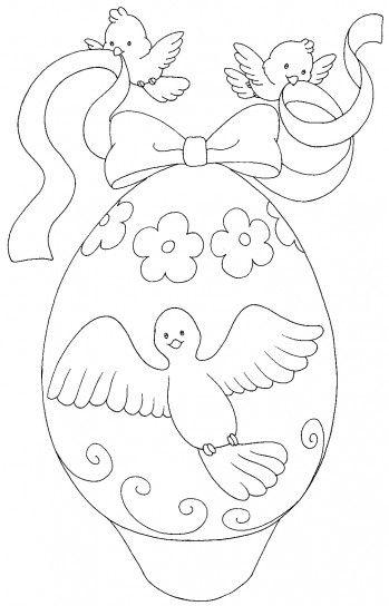 Disegni di Pasqua le uova da stampare e colorare