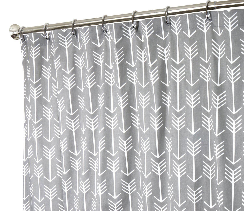 Extra Long Shower Curtain Fabric Shower Curtains Bathroom Curtains ...