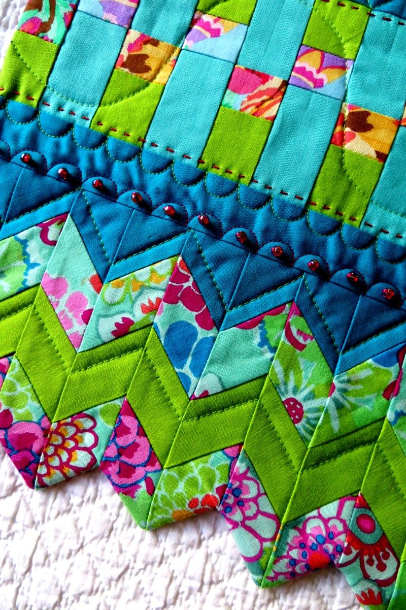 If you want a really pretty edging to a quilt - this is it ... : quilt borders and bindings - Adamdwight.com