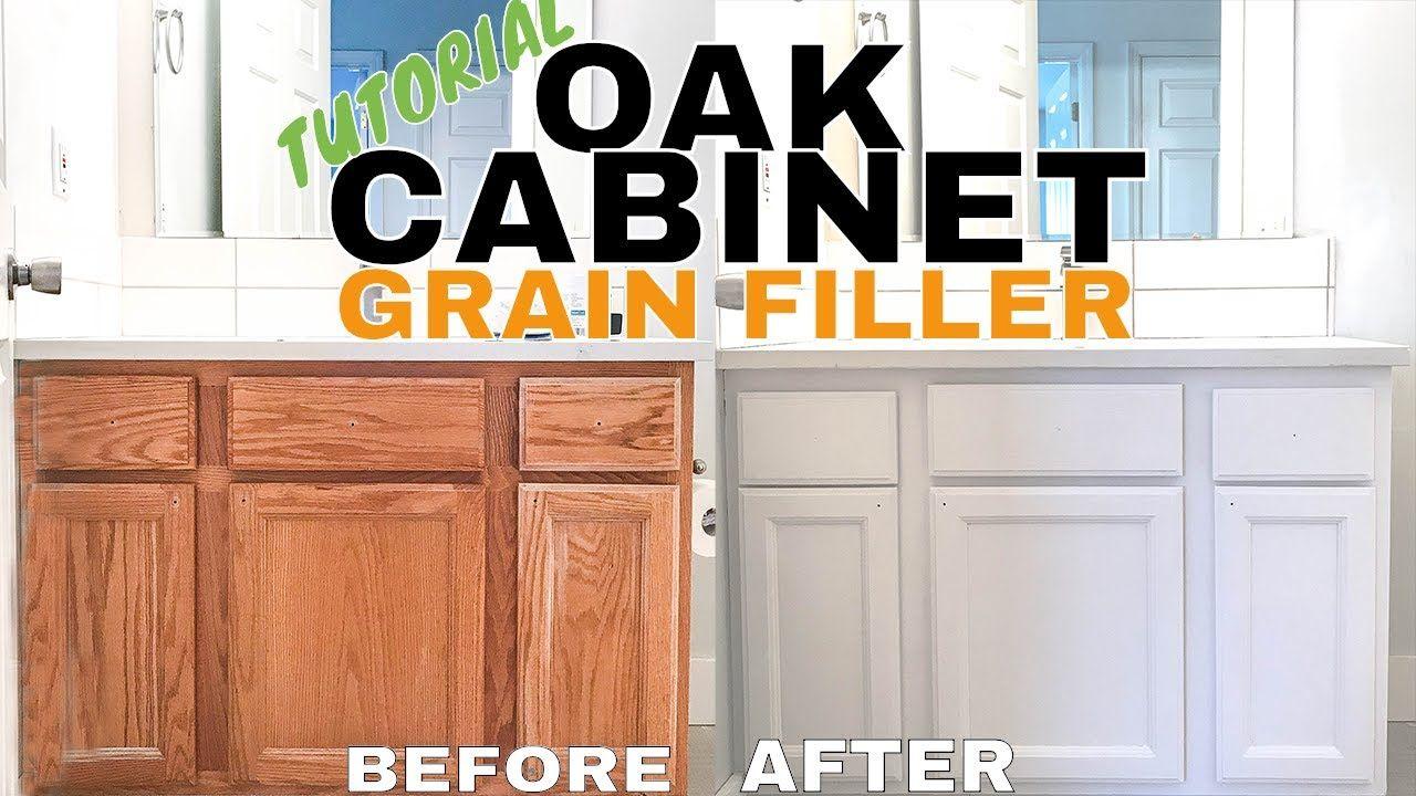 Refinishing Oak Cabinets Aqua Coat Hide Grain Youtube Staining Oak Cabinets Honey Oak Cabinets Oak Cabinets