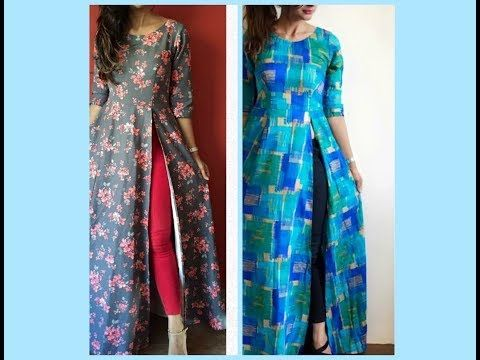Front Open Gown | Party Wear Cutting & Stitching ( DIY) - YouTube ...