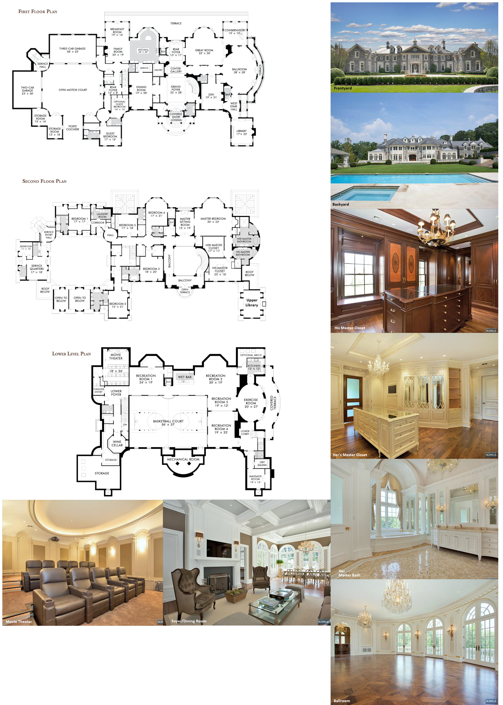 It Has A Ballroom Luxury Ranch House Plans Mansion Floor Plan House Plans Mansion