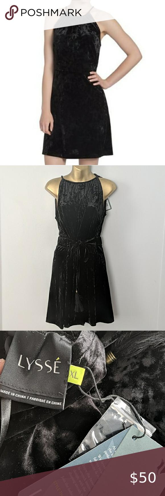 Lysse Velvet Black Dress Size Xl New In 2020 Black Velvet Dress Dresses Black Dress [ 1740 x 580 Pixel ]