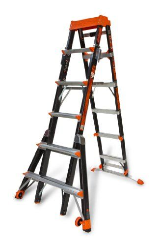 Little Giant Ladder Systems 15131 001 Select Step 6 To 10 Feet Adjustable Fiberglass Stepladder Little Giants Step Ladders Ladder