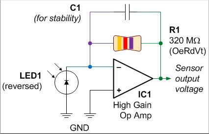 Photodiode amplifier circuit is a semiconductor device