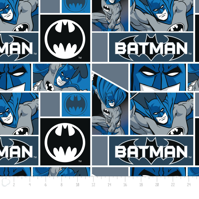 Batman blocks fleece fabric david textiles by the yard products