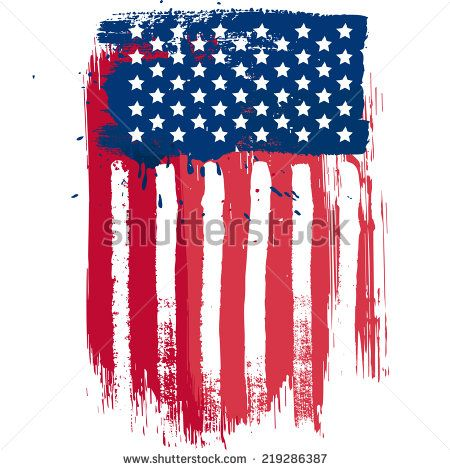 Vertical Composition Vector American Flag In Grunge Style Vertical American Flag Illustration Artwork American Flag