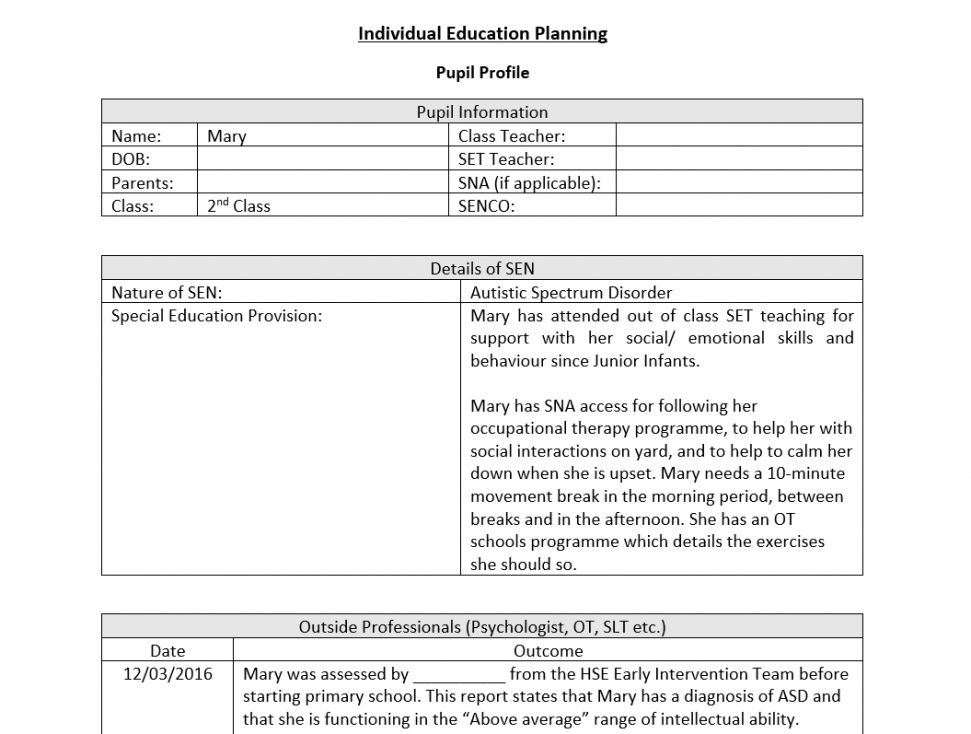 Get Our Image Of Individual Learning Plan Template Individual Education Plan How To Plan Online Business Plan Template