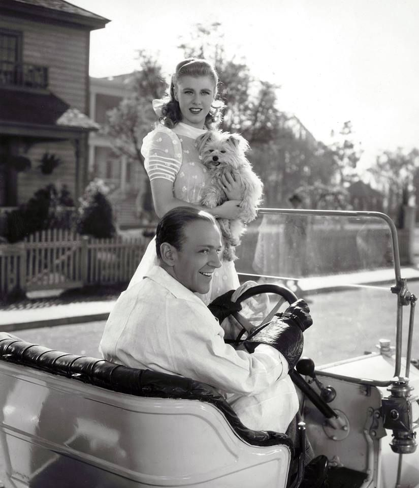 A great shot of Fred and Ginger (with doggie) while