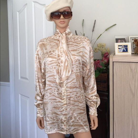 5c426e3abf1900 💐Vintage...Escada 100% silk blouse Vintage...Escada by Margaretha ...