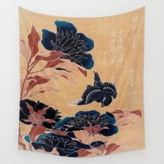 japanese flowers Wall Tapestry
