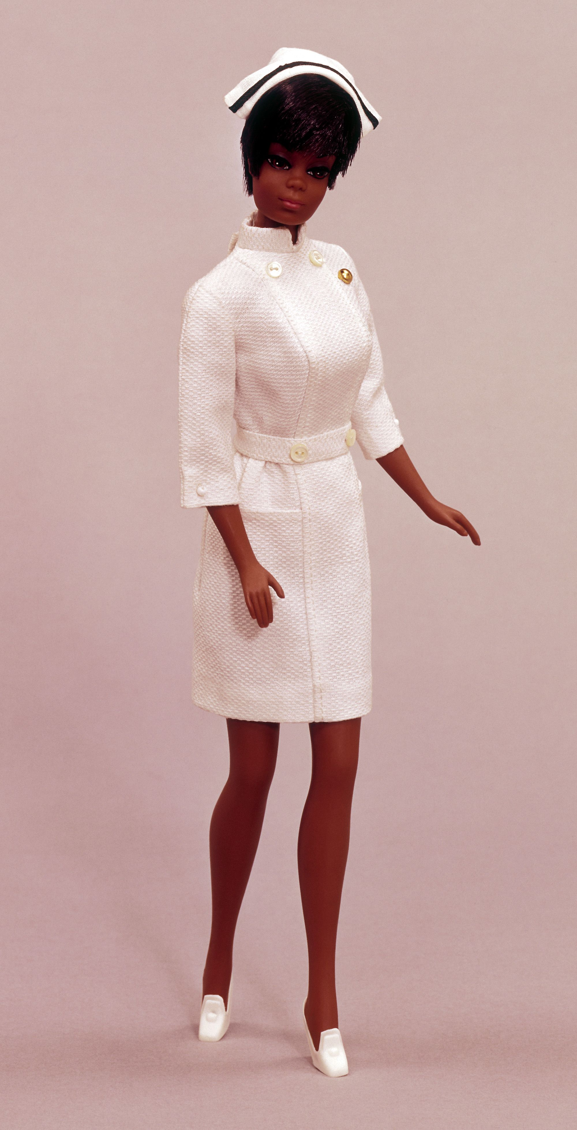 """Nurse Julia Barbie doll--I had this, it was my first and probably only 'brand new"""" barbie doll"""