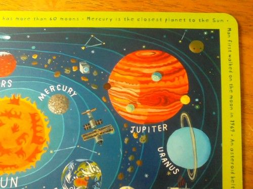 New Space Placemat With Plutocrying Design Infographics