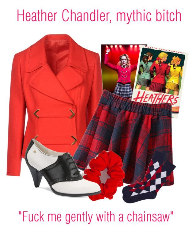 """""""Heather Chandler"""" by sda123 ❤ liked on Polyvore featuring American Apparel, Bass, Express and heathersthemusical"""