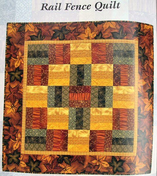 Rail Fence - a great starter quilt idea! Love the fall ...