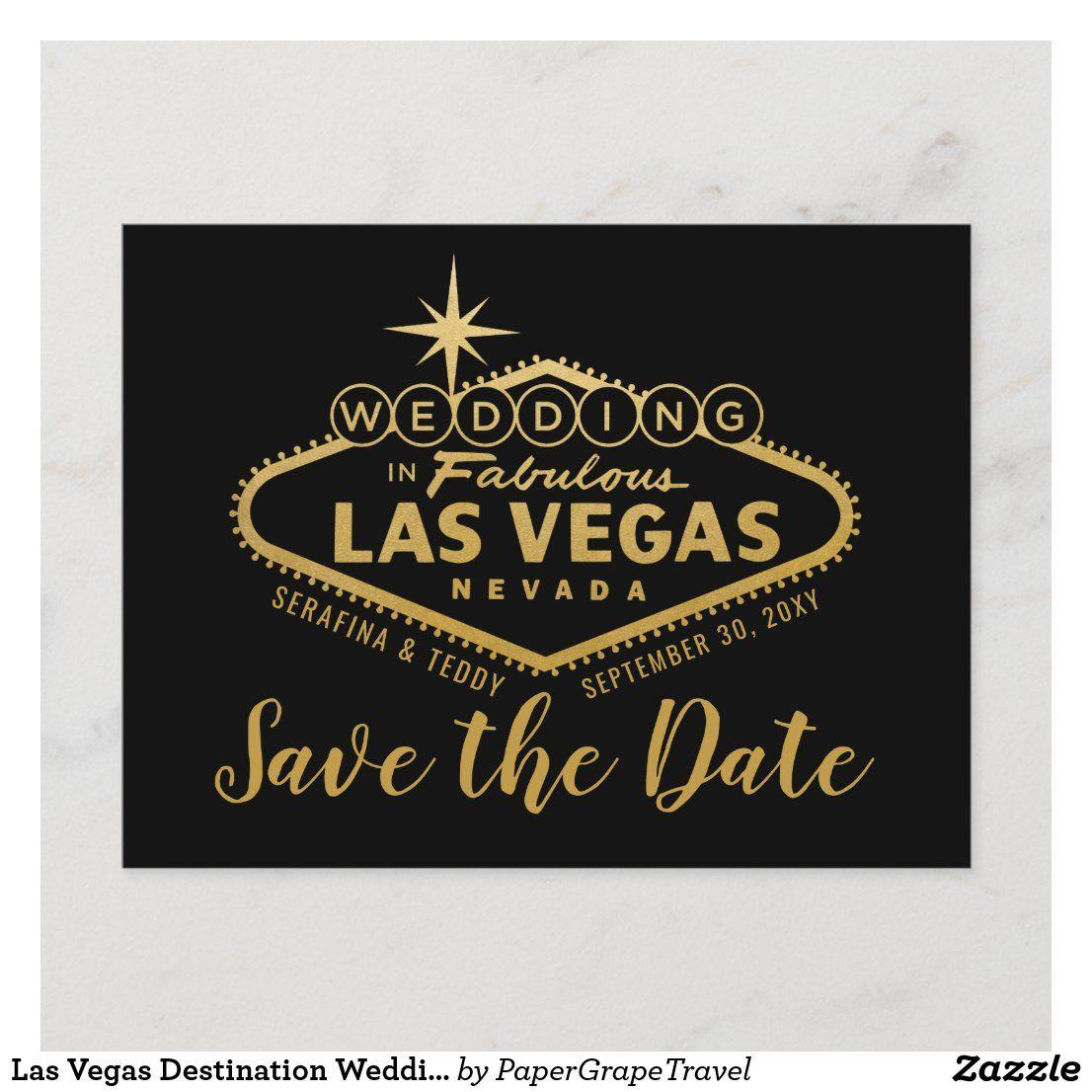 Las Vegas Destination Wedding Save the Date Announcement