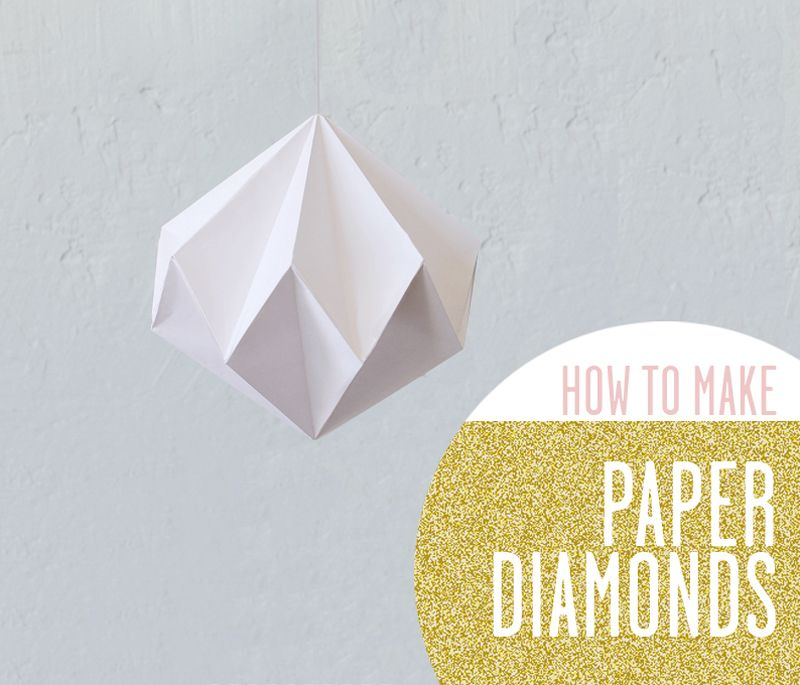 How To Make Paper Diamonds