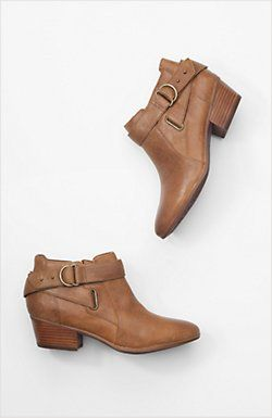 Clarks® Spye Belle short western boots $140, at j.jill in brown or black