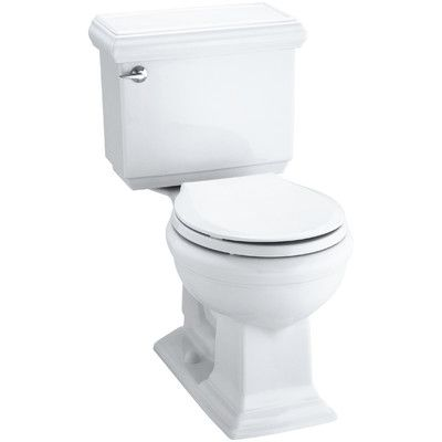 Memoirs Impressions Classic Comfort Height Two Piece Round Front 1 28 Gpf Toilet With Aquapiston Flush Technology And Left Hand Trip Lever Kohler Memoirs Kohler Water Sense