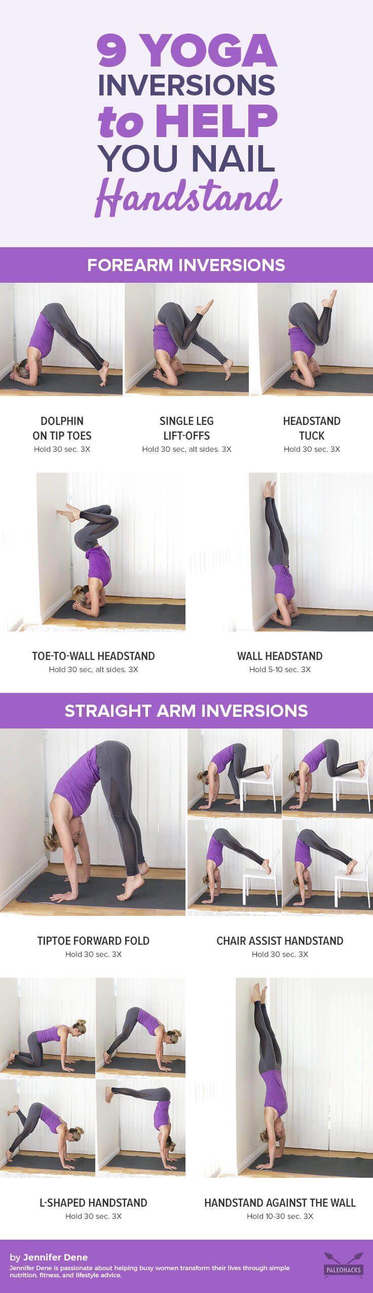 Eine Schritt-für-Schritt-Anleitung zum sicheren Nageln eines Handstandes - Yoga & Fitness  Eine Schr...