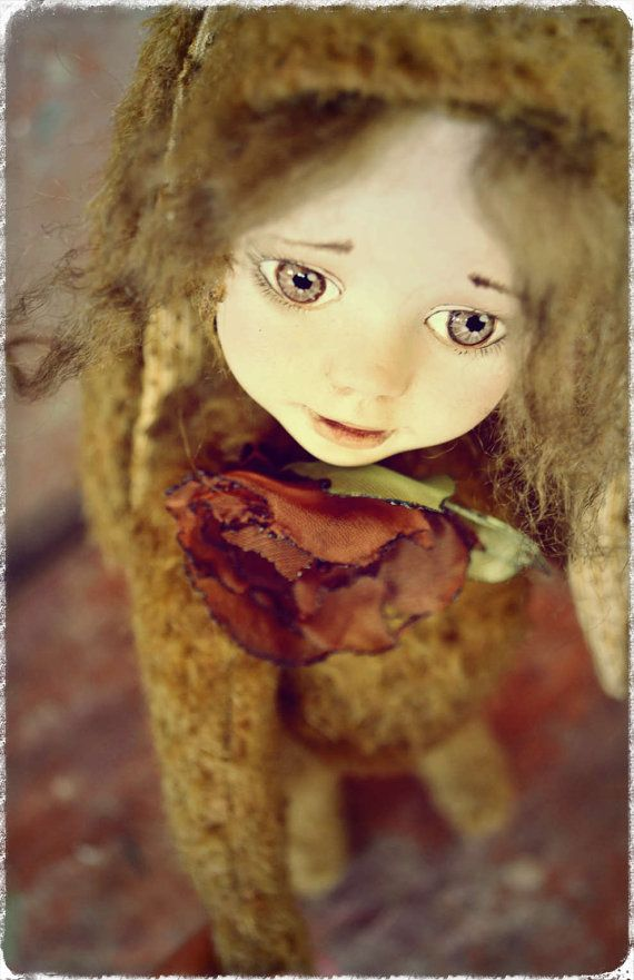 Artist Doll Taya Art doll OOAK doll Paper clay doll by NadyaBears on Etsy