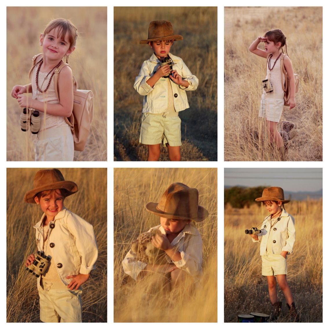 Safari photoshoot for little girl child photoshoot ideas
