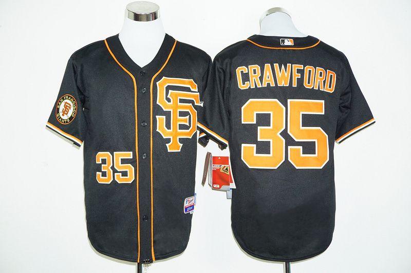 giants 35 brandon crawford black 2016 cool base stitched mlb jersey