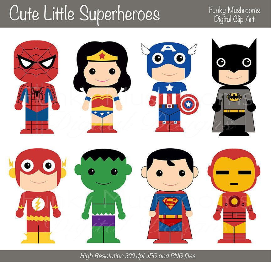 Character Design Books Download : Digital clipart cute little superheroes for scrapbooking