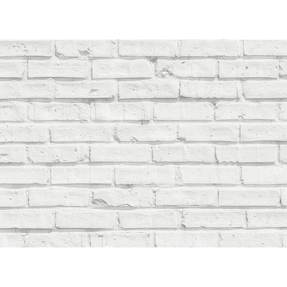 Brewster 25 6 In X 18 5 In White Bricks Kitchen Panel Wall Decal Cr 67214 The Home Depot White Brick White Brick Backsplash Brick Kitchen