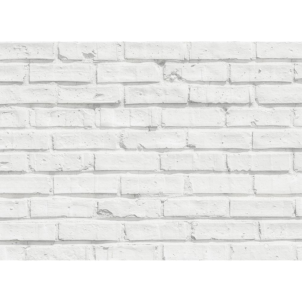 Brewster 25 6 In X 18 5 In White Bricks Kitchen Panel Wall Decal Cr 67214 The Home Depot White Brick White Brick Backsplash Brick Kitchen