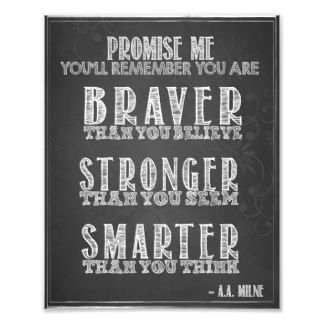 A A Milne Quote Chalkboard Motivational Art Sign Photo Print