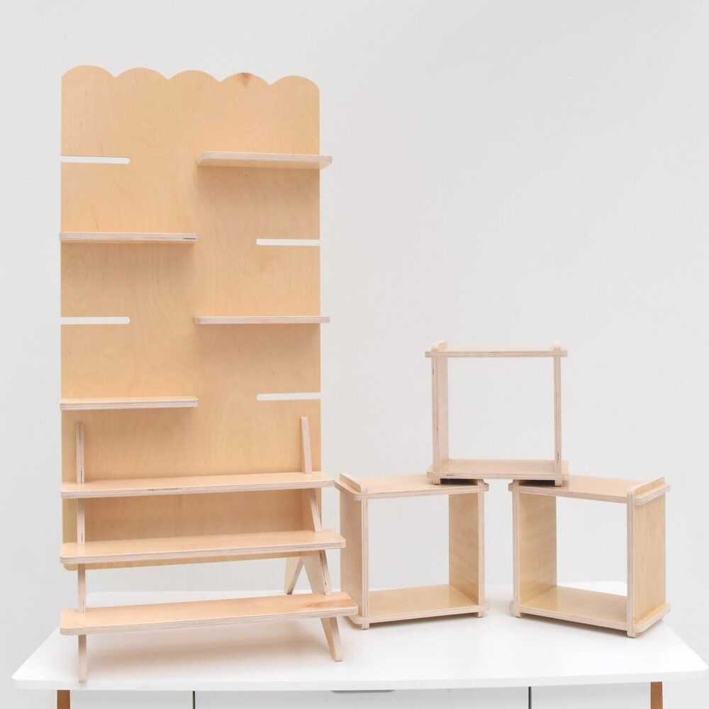 the TOWER — Vertical Ledge | Wooden display stand, Craft show ...