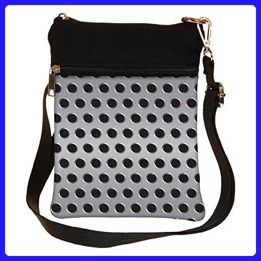 Snoogg Grey Holes Cross Body Tote Bag / Shoulder Sling Carry Bag - Shoulder bags (*Amazon Partner-Link)