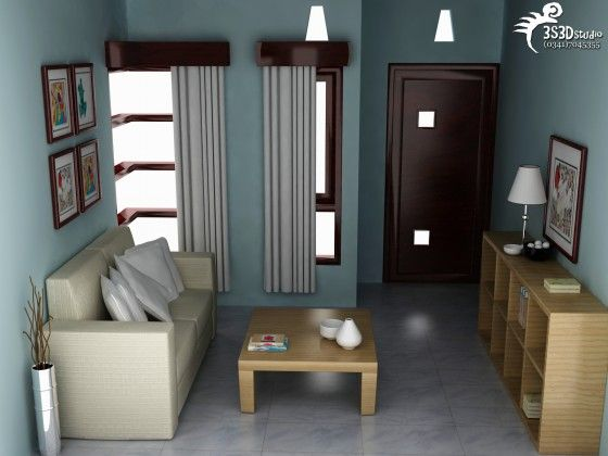 Interior rumah minimalis sofa ruang tamu jeep for Room design 4x3