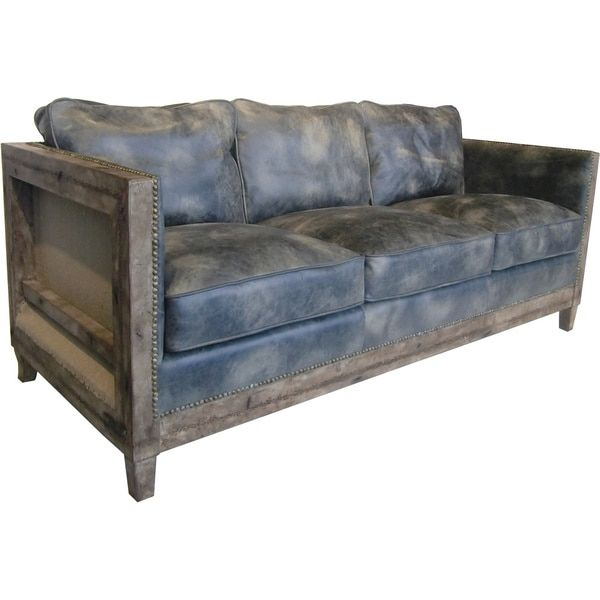 Superbe Aurelle Home Monarchy Antique Rustic Distressed Leather Sofa