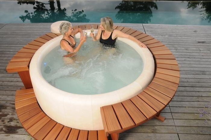 Softub Whirlpools Whirlpool, Energie sparen, Dachterrasse