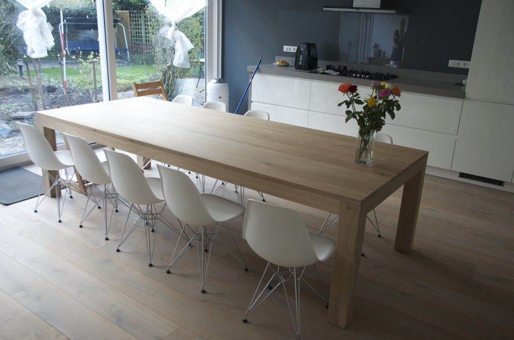 Moderne houten eettafel loungeset 2017 - Eettafel en houten eetkamer ...