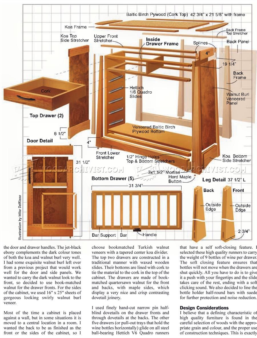 Wine Cabinet Plans Furniture Plans Woodworking Plans Craftsman
