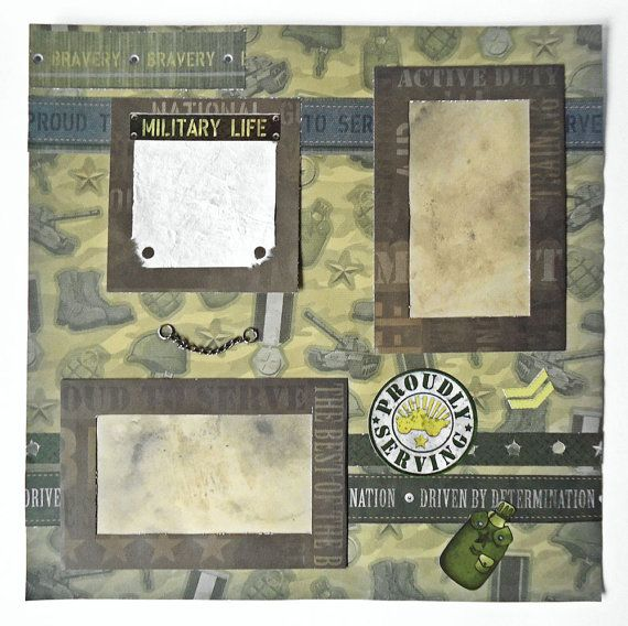Army Scrapbook Layouts Google Search Scrapbooking Pinterest