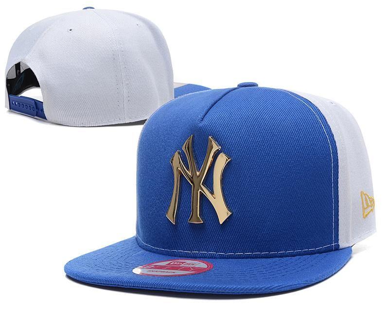1cffd272f0f Men s New York Yankees New Era 9Fifty Gold Metal NY Logo A-Frame Baseball Snapback  Hat - Blue   White