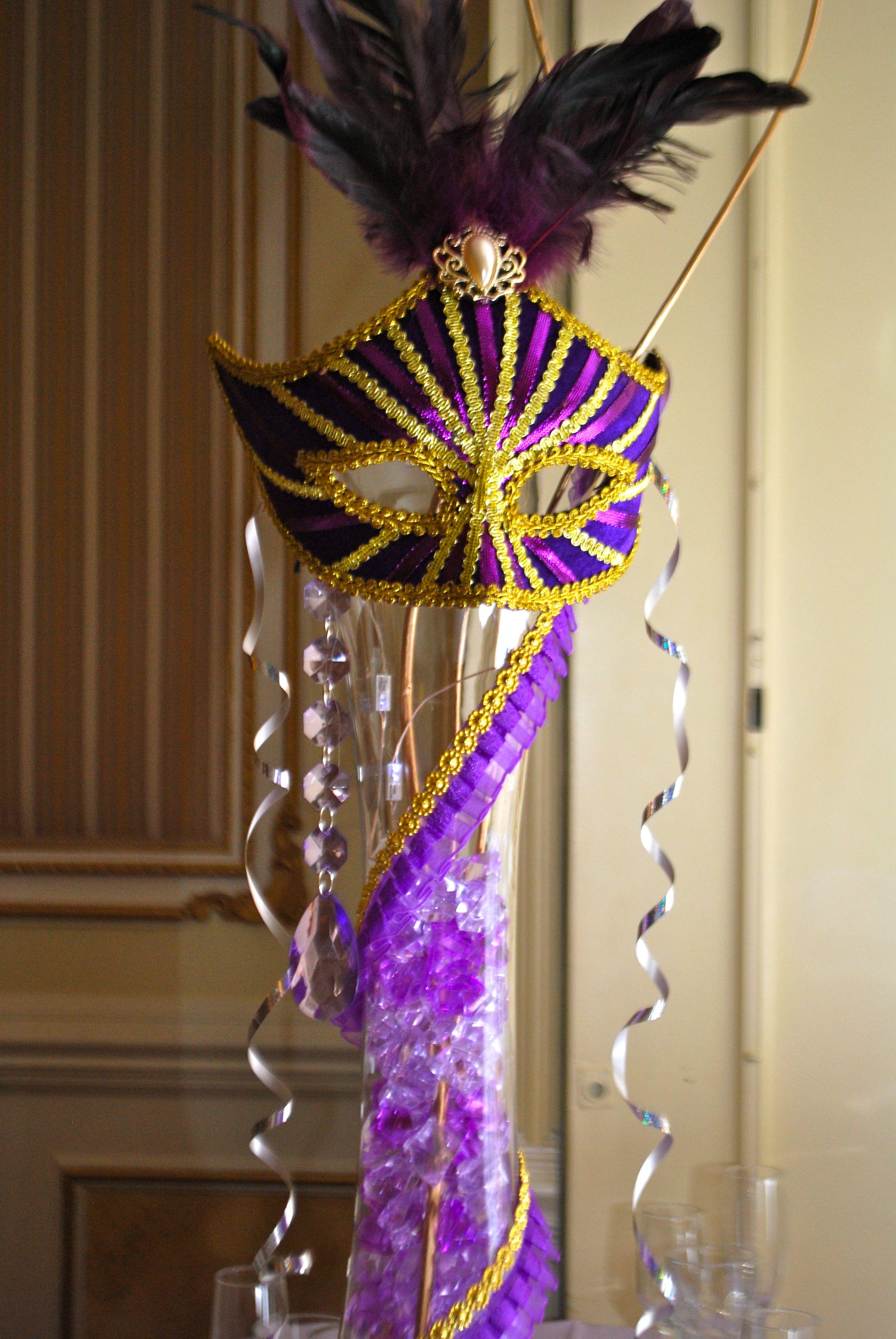 Quinceanera Masquerade centerpieces The spanish community ...