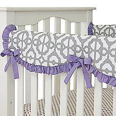 image of Caden Lane® Mod Lattice Crib Rail Cover in Lavender