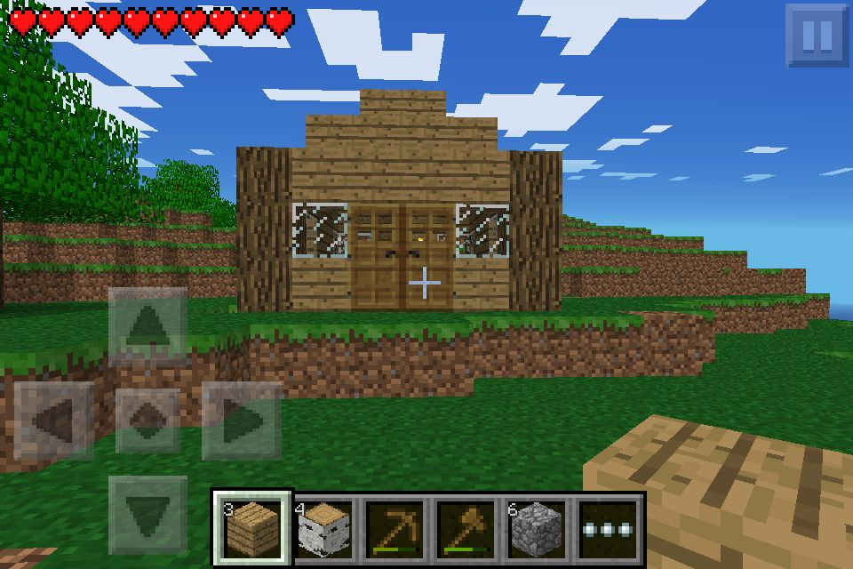 Gameplay Day  1 Today  I Made A House That Looks Kinda Cool For You First Night In Minecraft