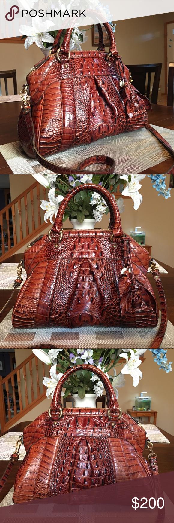 273fafc008d807 🌹Limited Edition🌹Brahmin Pecan Louise Rose Bag