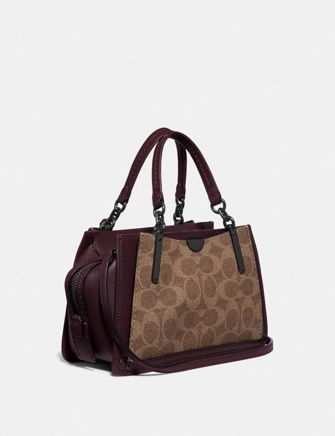 e5bdfacc2 Coach Dreamer 21 in Signature Canvas With Rexy by Yeti Out  Tan/Oxblood/Pewter Women Bags Alternate View 1