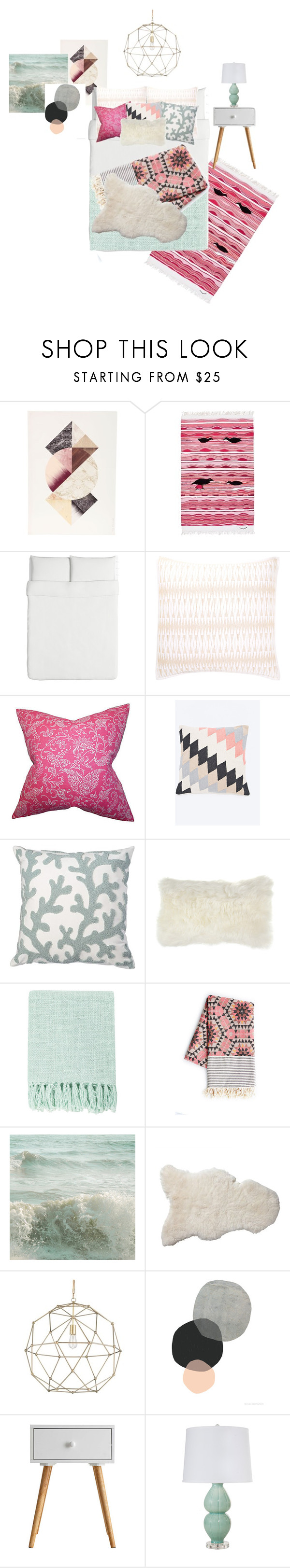 """""""Bedroom Design"""" by i-dont-do-mornings ❤ liked on Polyvore featuring interior, interiors, interior design, home, home decor, interior decorating, ferm LIVING, DwellStudio, Amara and Surya"""