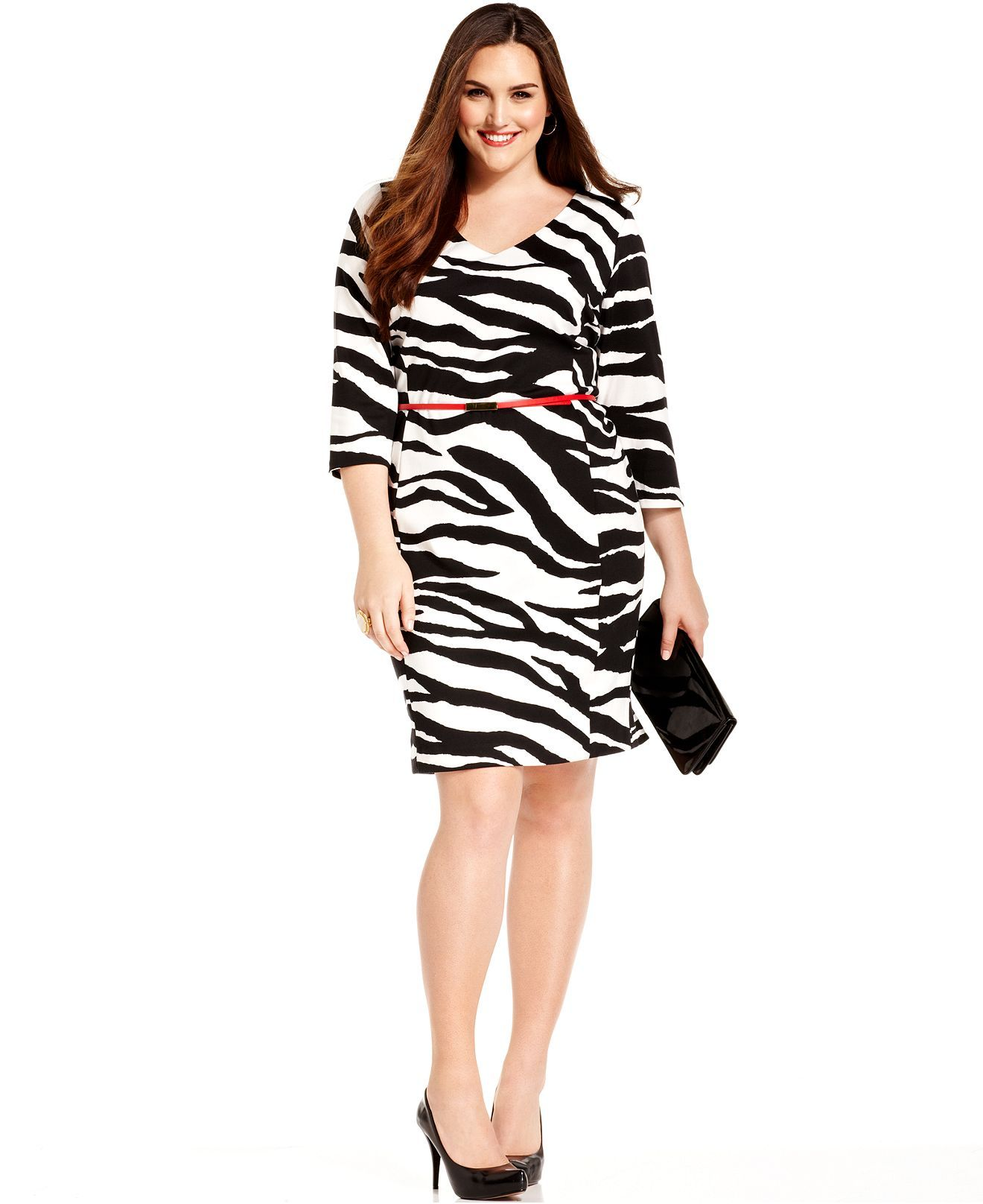Jones New York Collection Plus Size Dress, Three-Quarter ...