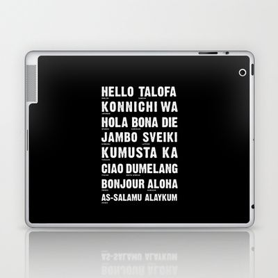 Hello Language Laptop & iPad Skin
